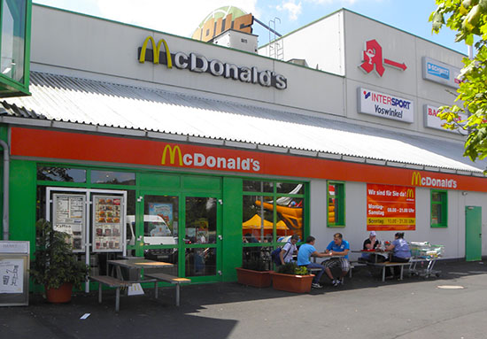 Das McDonald's-Restaurant in Wächtersbach