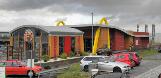 Das McDonald's-Restaurant in Limburg