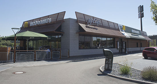 Das McDonald's-Restaurant in Wörth