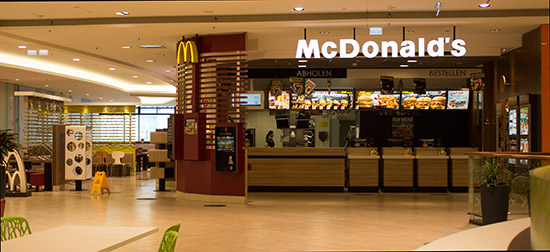 Das McDonald's-Restaurant in Frankfurt am Main (Europaallee)