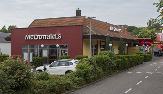 Das McDonald's-Restaurant in Heilbronn (Happenbacher Straße)
