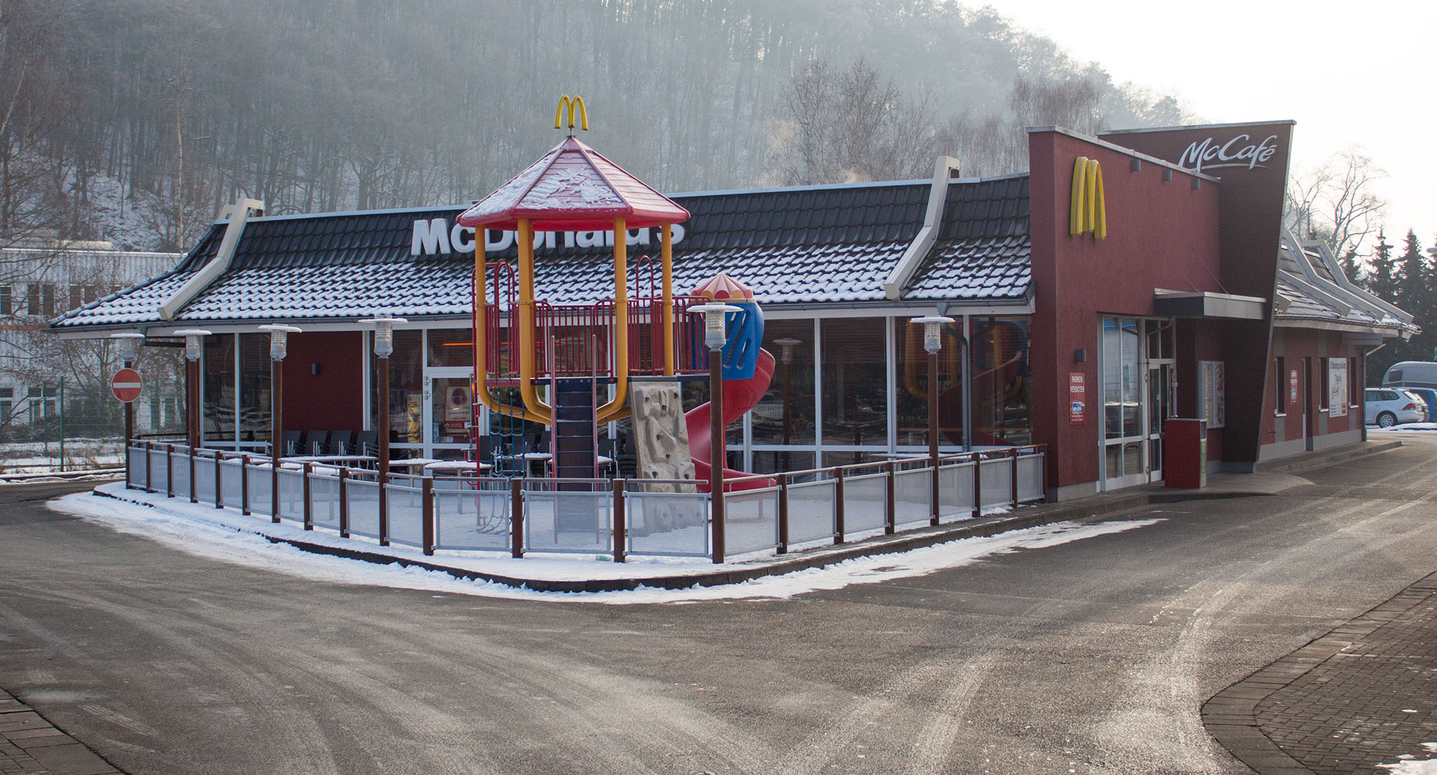 Das McDonald's-Restaurant in Dillenburg