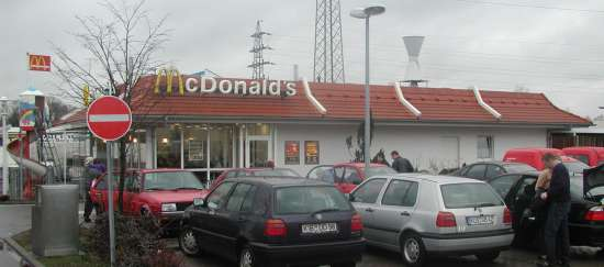 Das McDonald's-Restaurant in Ramstein