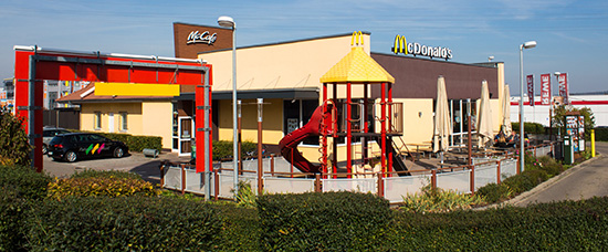 Das McDonald's-Restaurant in Winnenden