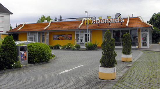 Das McDonald's-Restaurant in Maintal