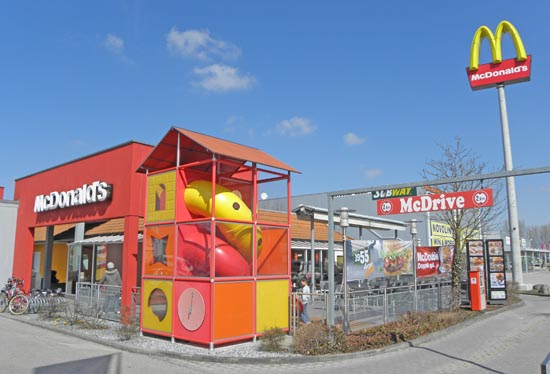 Das McDonald's-Restaurant in Eching