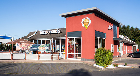 Das McDonald's-Restaurant in Willroth