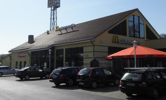 Das McDonald's-Restaurant in Guxhagen