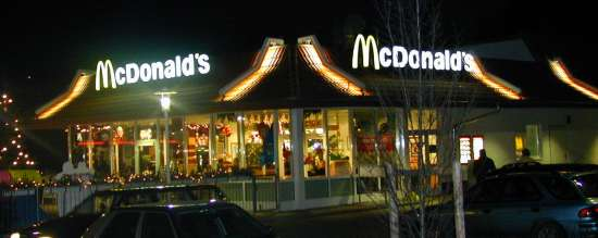Das McDonald's-Restaurant in Auerbach