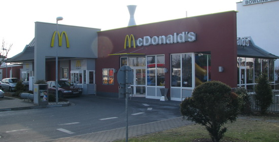 Das McDonald's-Restaurant in Mühlheim am Main