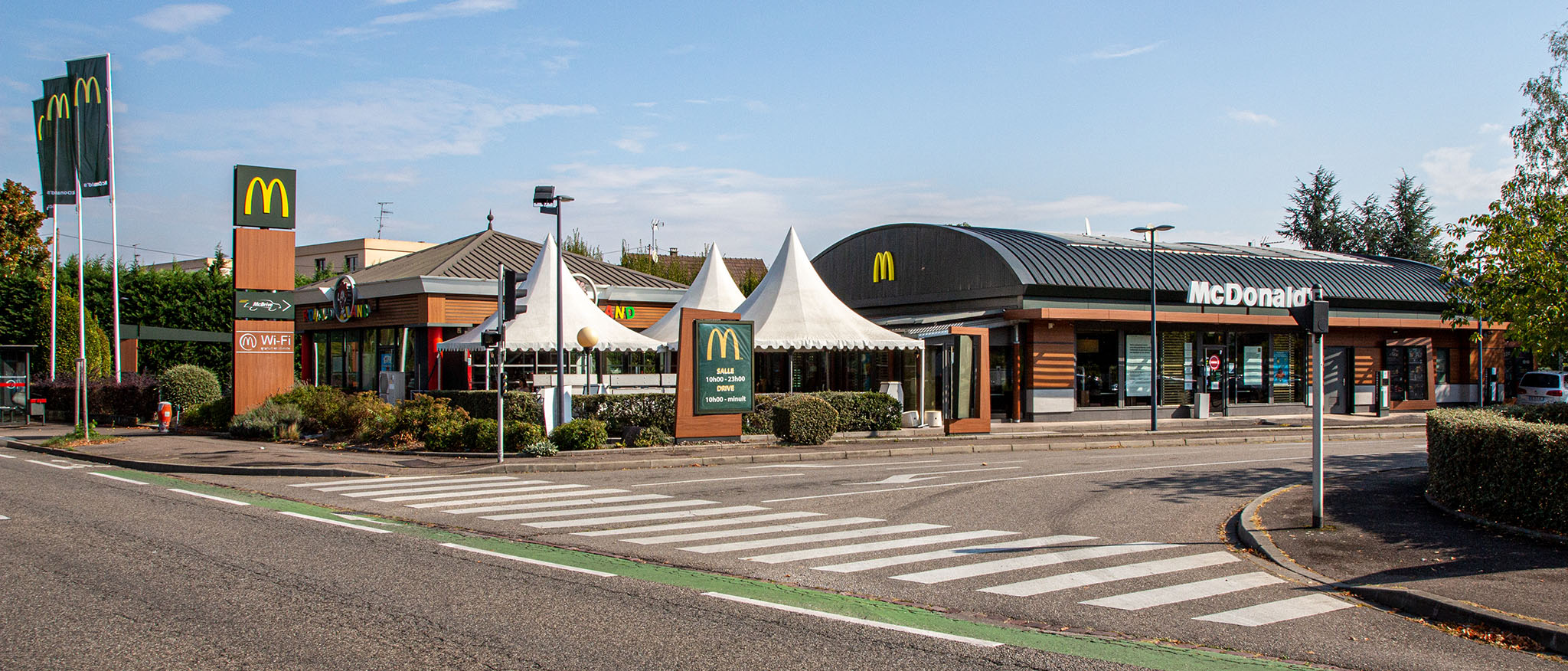 Das McDonald's-Restaurant in Colmar