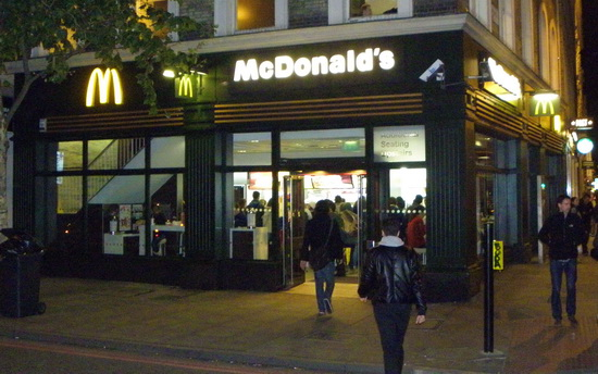 Das McDonald's-Restaurant in London (Pentonville Road)