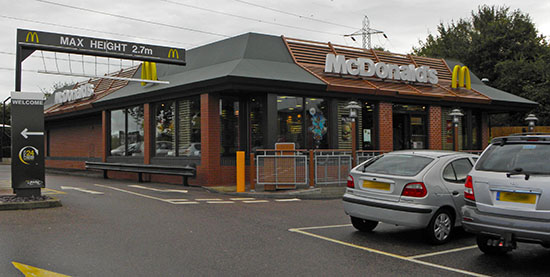 Das McDonald's-Restaurant in Canterbury (Stour Retail Park)
